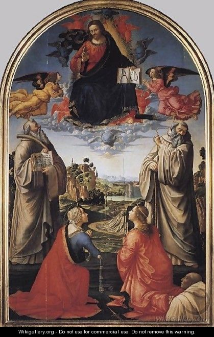 Christ in Heaven with Four Saints and a Donor c 1492 - Domenico Ghirlandaio