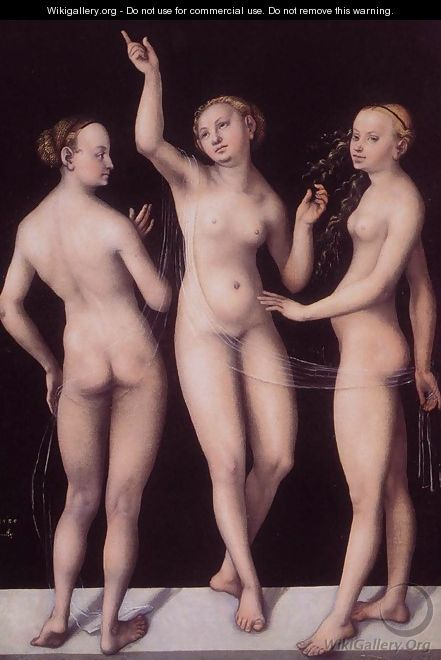 The Three Graces 1535 - Lucas The Elder Cranach
