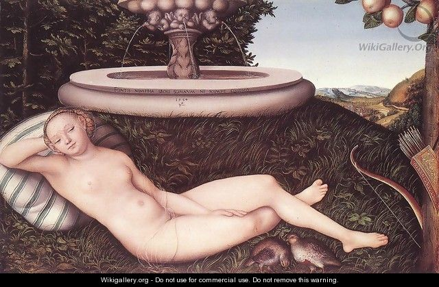 The Nymph of the Fountain 1534 - Lucas The Elder Cranach