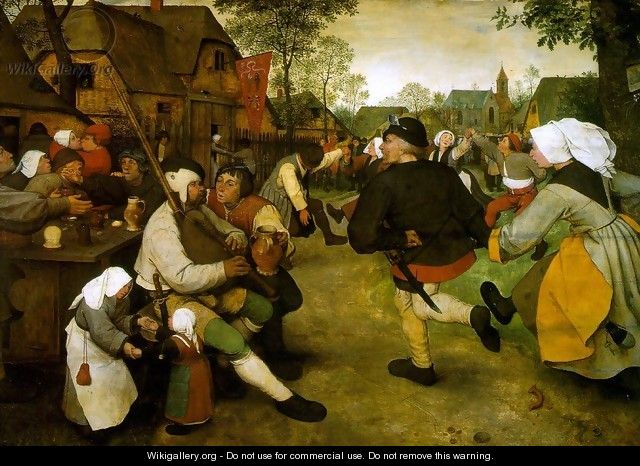 The Peasant Dance 1568 - Pieter the Elder Bruegel