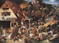 Netherlandish Proverbs 1559 - Pieter the Elder Bruegel