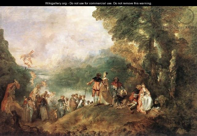 The Embarkation for Cythera 1717 - Jean-Antoine Watteau