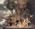 Merry Company in the Open Air 1716-19 - Jean-Antoine Watteau