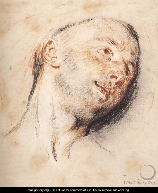 Head of a Man - Jean-Antoine Watteau