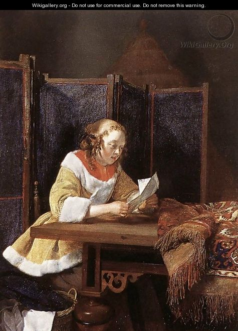 A Lady Reading a Letter c. 1662 - Gerard Ter Borch