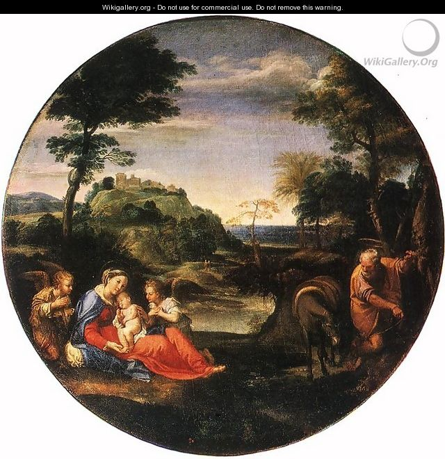Rest on Flight into Egypt c. 1600 - Annibale Carracci