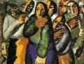 Peasant Women In Church - Kazimir Severinovich Malevich