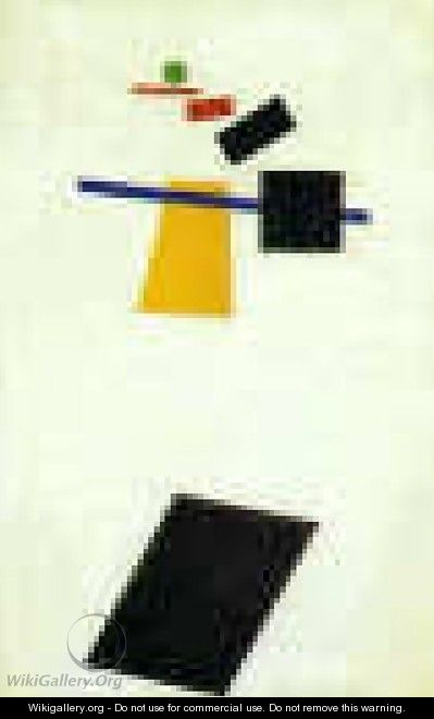 Suprematism Painter Like Realism Of A Football Player Color Masses Of The Fourth Dimension - Kazimir Severinovich Malevich