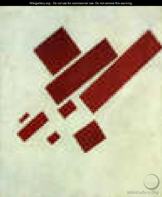 Suprematism With Eight Red Rectangles - Kazimir Severinovich Malevich