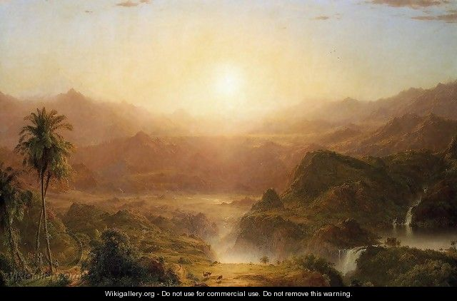 The Andes Of Ecuador2 - Frederic Edwin Church
