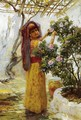 In The Courtyard - Frederick Arthur Bridgman