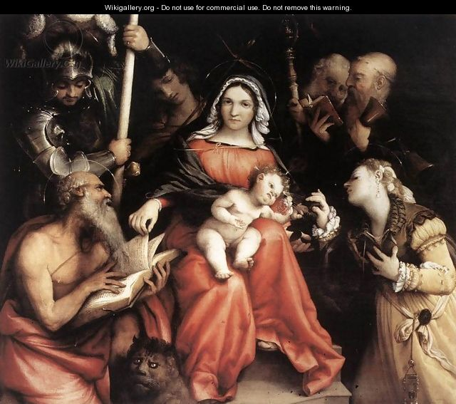 Mystic Marriage of St Catherine 1524 - Lorenzo Lotto