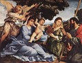 Madonna and Child with Saints and an Angel 1527-28 - Lorenzo Lotto