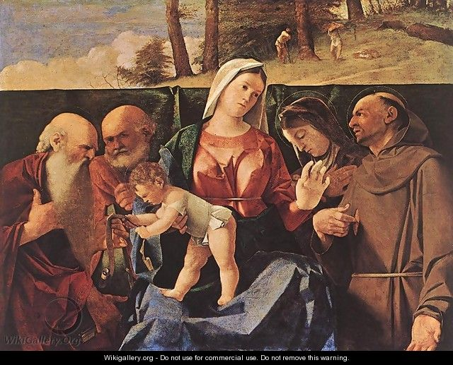 Madonna and Child with Saints c. 1506 - Lorenzo Lotto