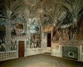 View Of The West And North Walls - Andrea Mantegna