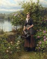 Watering The Garden - Daniel Ridgway Knight
