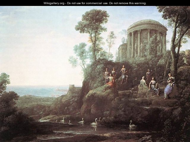 Apollo and the Muses on Mount Helion (Parnassus) 1680 - Claude Lorrain (Gellee)