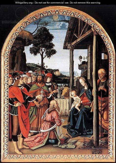Adoration of the Kings (Epiphany) c. 1476 - Pietro Vannucci Perugino
