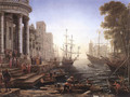 Port Scene with the Embarkation of St Ursula 1641 - Claude Lorrain (Gellee)