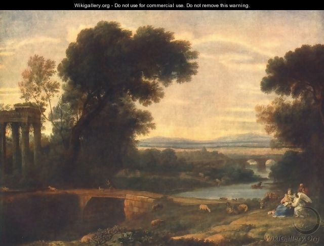 Landscape with the Rest on the Flight into Egypt 1666 - Claude Lorrain (Gellee)