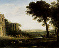 Landscape With A Sacrifice To Apollo - Claude Lorrain (Gellee)