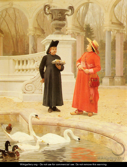 A Plate Of Cakes - Jehan Georges Vibert