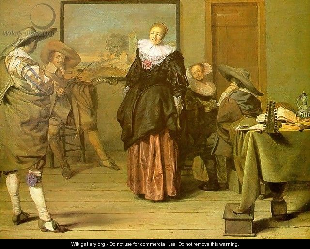 The Dancing Lesson 1627 - Pieter Codde