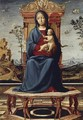 Virgin and Child Enthroned c. 1495 - Lorenzo Costa