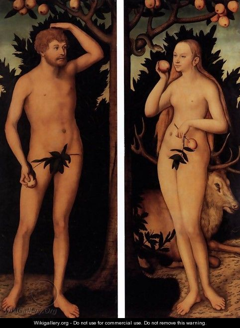 Adam and Eve after 1537 - Lucas The Younger Cranach