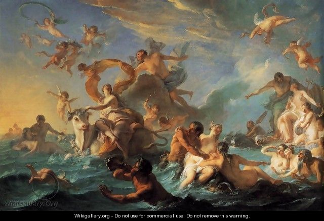 The Rape of Europa 1727 - Noel-Nicolas Coypel