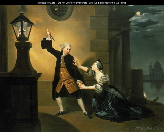 David Garrick (1717-79) as Jaffier and Susannah Maria Cibber (1714-76) as Belvidera in