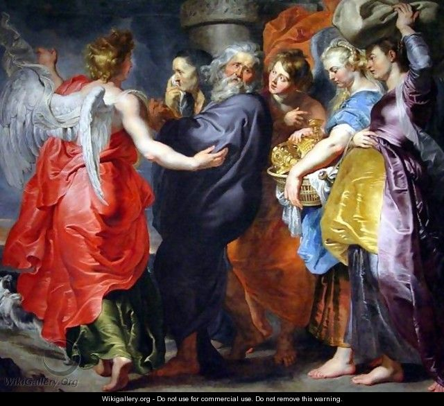 The Departure of Lot and his Family from Sodom - Peter Paul Rubens