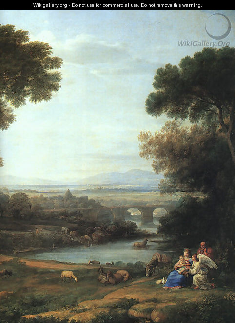 Landscape with the Rest on the Flight into Egypt (detail) 1666 - Claude Lorrain (Gellee)
