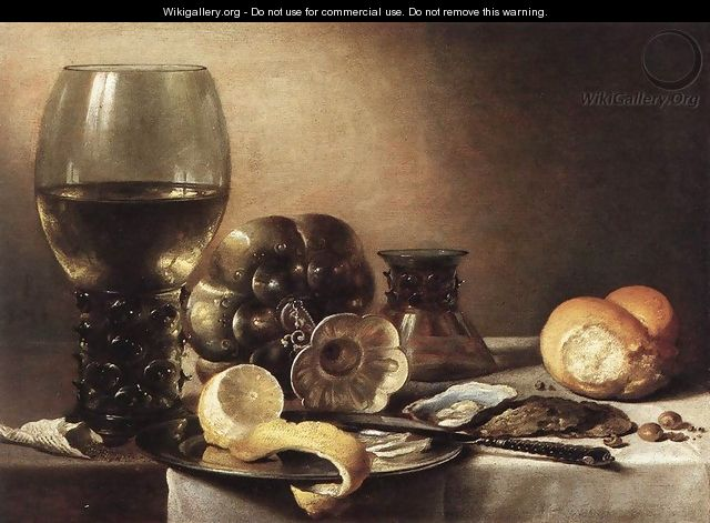 Still-Life with Oysters c. 1633 - Pieter Claesz.