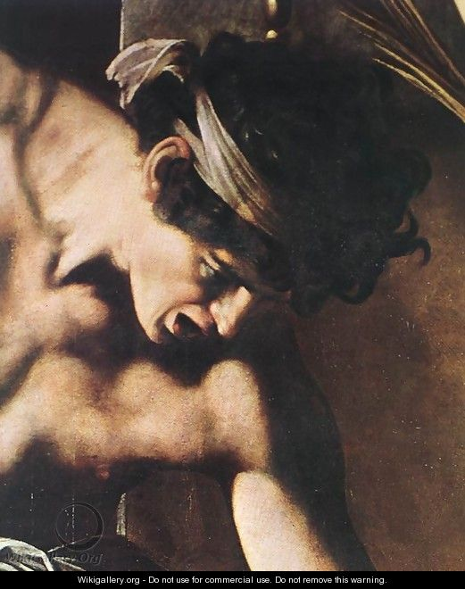 The Martyrdom of St Matthew (detail 2) 1599-1600 - Caravaggio