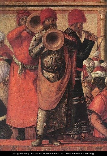 The Baptism of the Selenites (detail 1) 1507 - Vittore Carpaccio