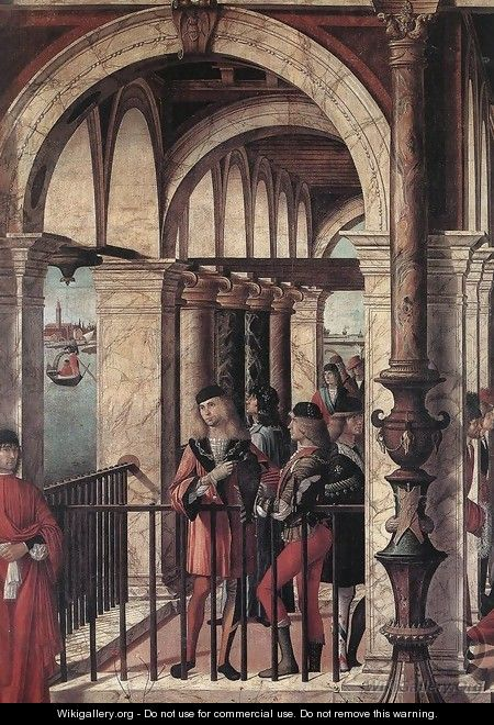 Arrival of the English Ambassadors (detail 1) 1495-1500 - Vittore Carpaccio