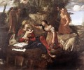 Rest on the Flight into Egypt 1630-45 - Angelo Caroselli