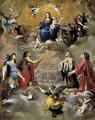 Virgin and Child in Glory with Saints 1655 - Giovanni Battista Carlone