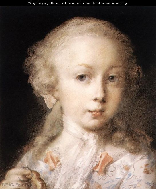 Young Lady of the Leblond Family. c. 1730 - Rosalba Carriera