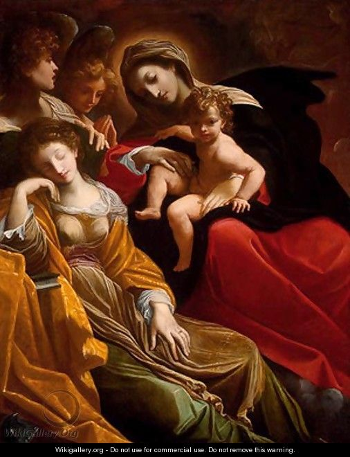 The Dream of Saint Catherine of Alexandria c. 1593 - Lodovico Carracci