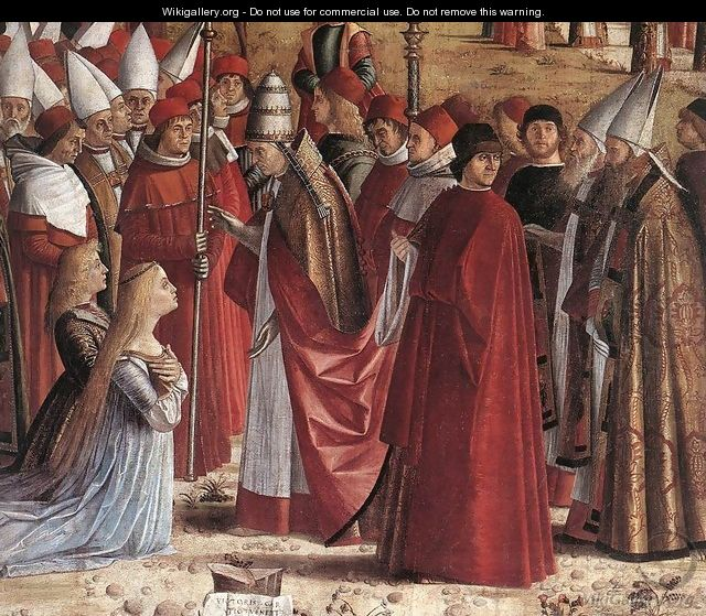 The Pilgrims Meet the Pope (detail) c. 1492 - Vittore Carpaccio