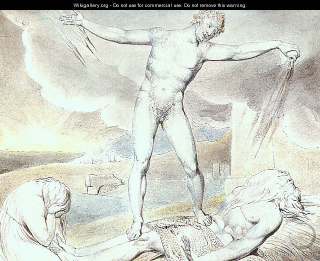 Satan Smiting Job with Boils 1826 - William Blake