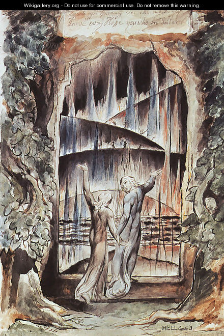 Dante and Virgil at the Gates of Hell (Illustration to Dante