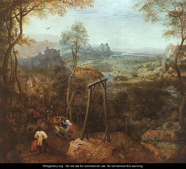 The Magpie on the Gallows 1568 - Pieter the Elder Bruegel