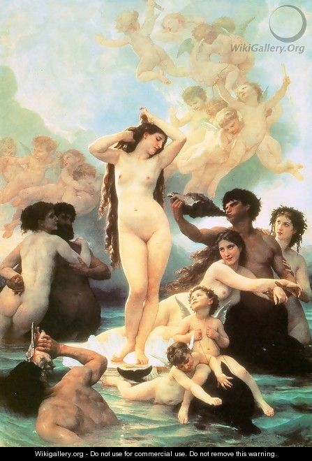 The Birth of Venus 1879 - William-Adolphe Bouguereau