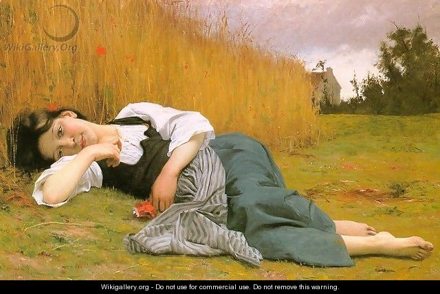 Rest at Harvest 1865 - William-Adolphe Bouguereau