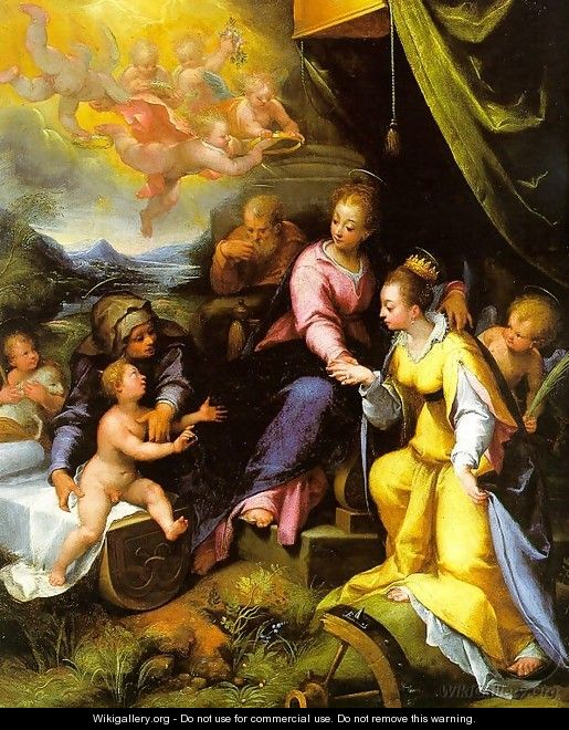 The Mystic Marriage of St. Catherine 1490 - Denys Calvaert