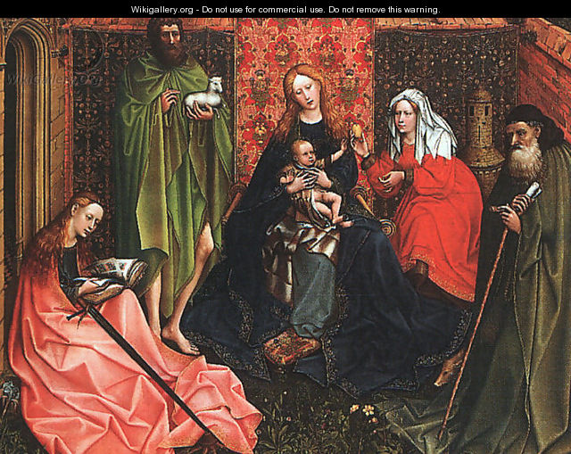 Madonna and Child with Saints in an Enclosed Garden 1440-60 - Follower of Robert Campin