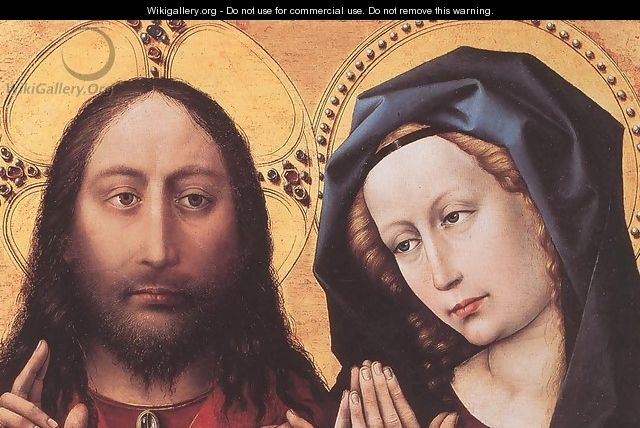 Blessing Christ and Praying Virgin c. 1424 - (Robert Campin) Master of Flémalle